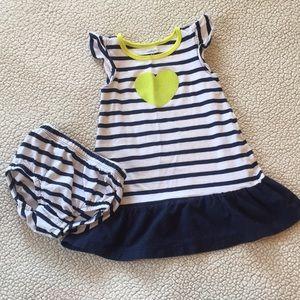 Carter's Infant girl's dress w/diaper cover.